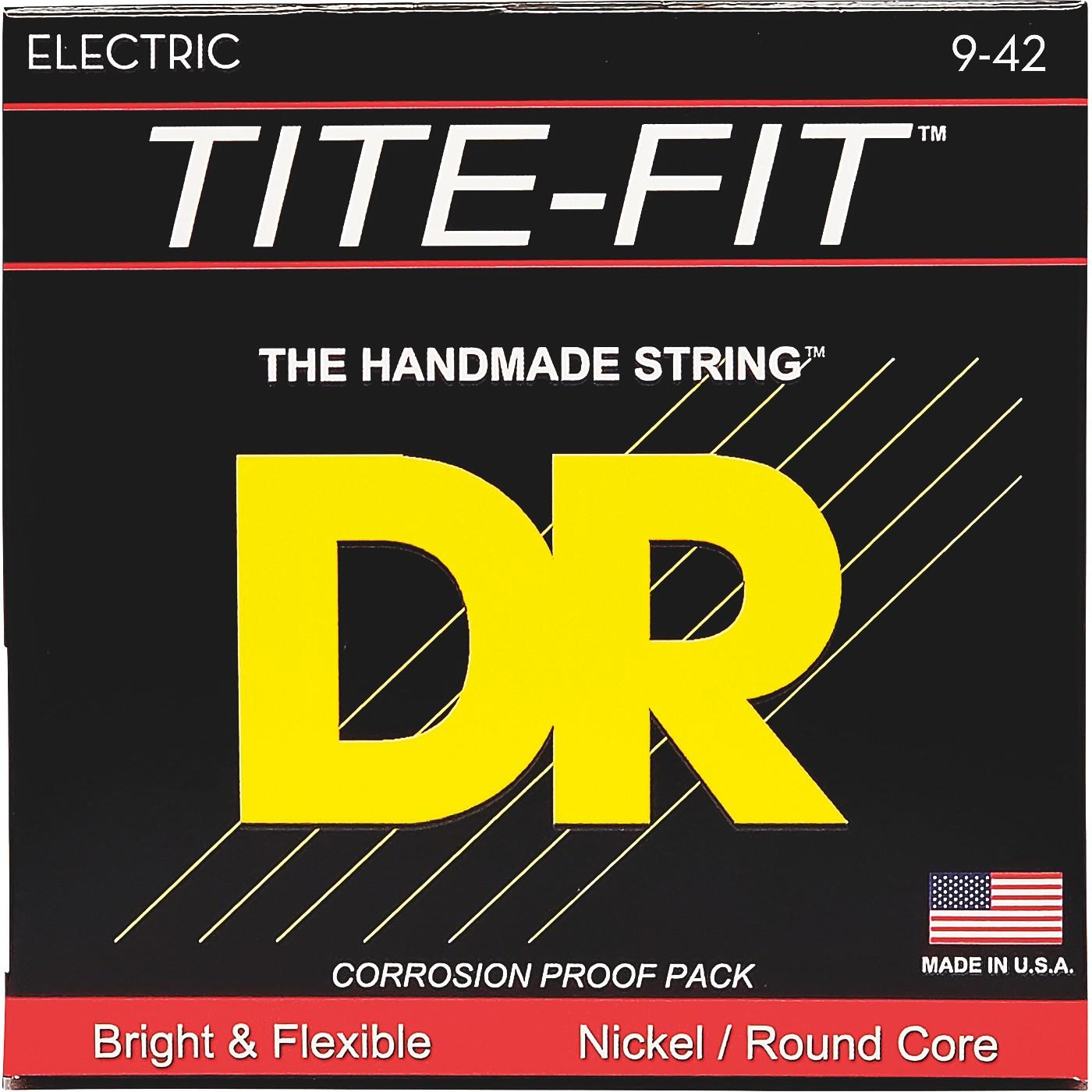 DR Strings Tite-Fit LT-9 Lite-n-Tite Nickel Plated Electric Guitar Strings thumbnail