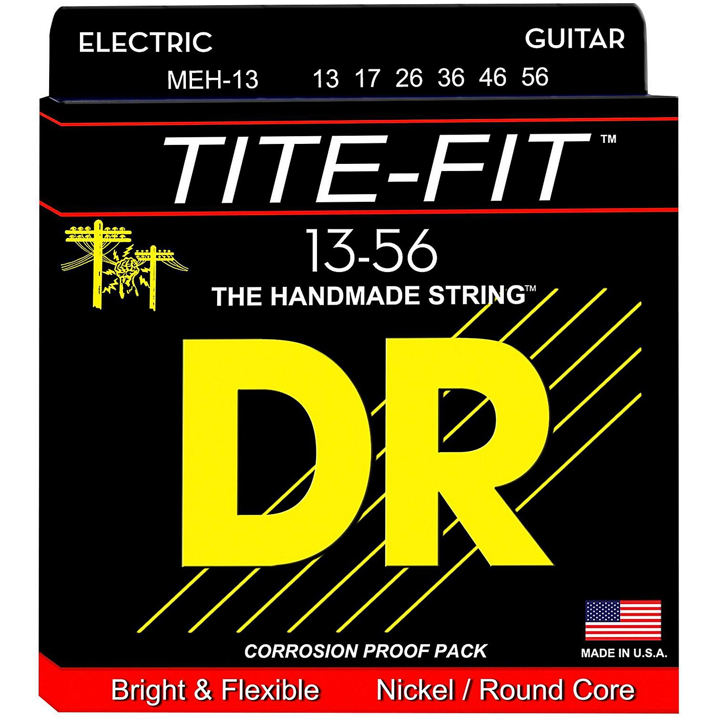 DR Strings Tite Fit MEH-13 Mega Heavy Nickel Plated Electric Guitar Strings thumbnail