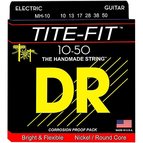 DR Strings Tite-Fit MH-10 Medium-Heavy Nickel Plated Electric Guitar Strings thumbnail