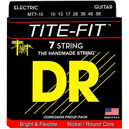 DR Strings Tite-Fit MT7-10 Medium 7-String Nickel Plated Electric Guitar Strings thumbnail