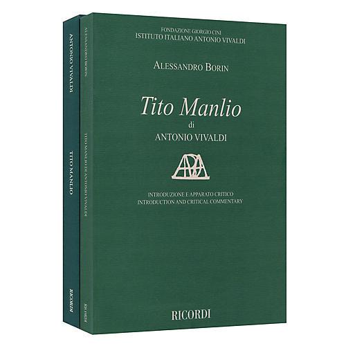 Ricordi Tito Manlio RV 738 Score with Critical Commentary Hardcover by Antonio Vivaldi Edited by Alessandro Borin thumbnail