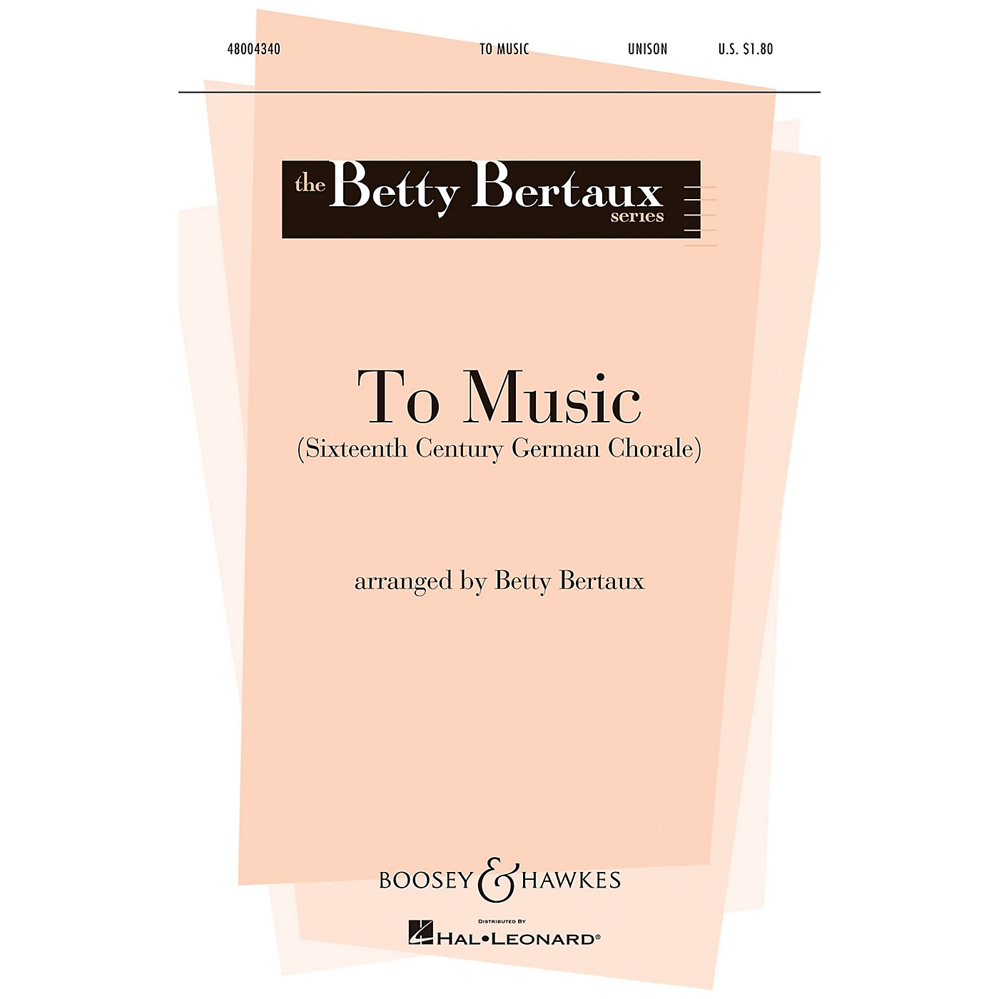 Boosey and Hawkes To Music (Unison) UNIS arranged by Betty Bertaux thumbnail