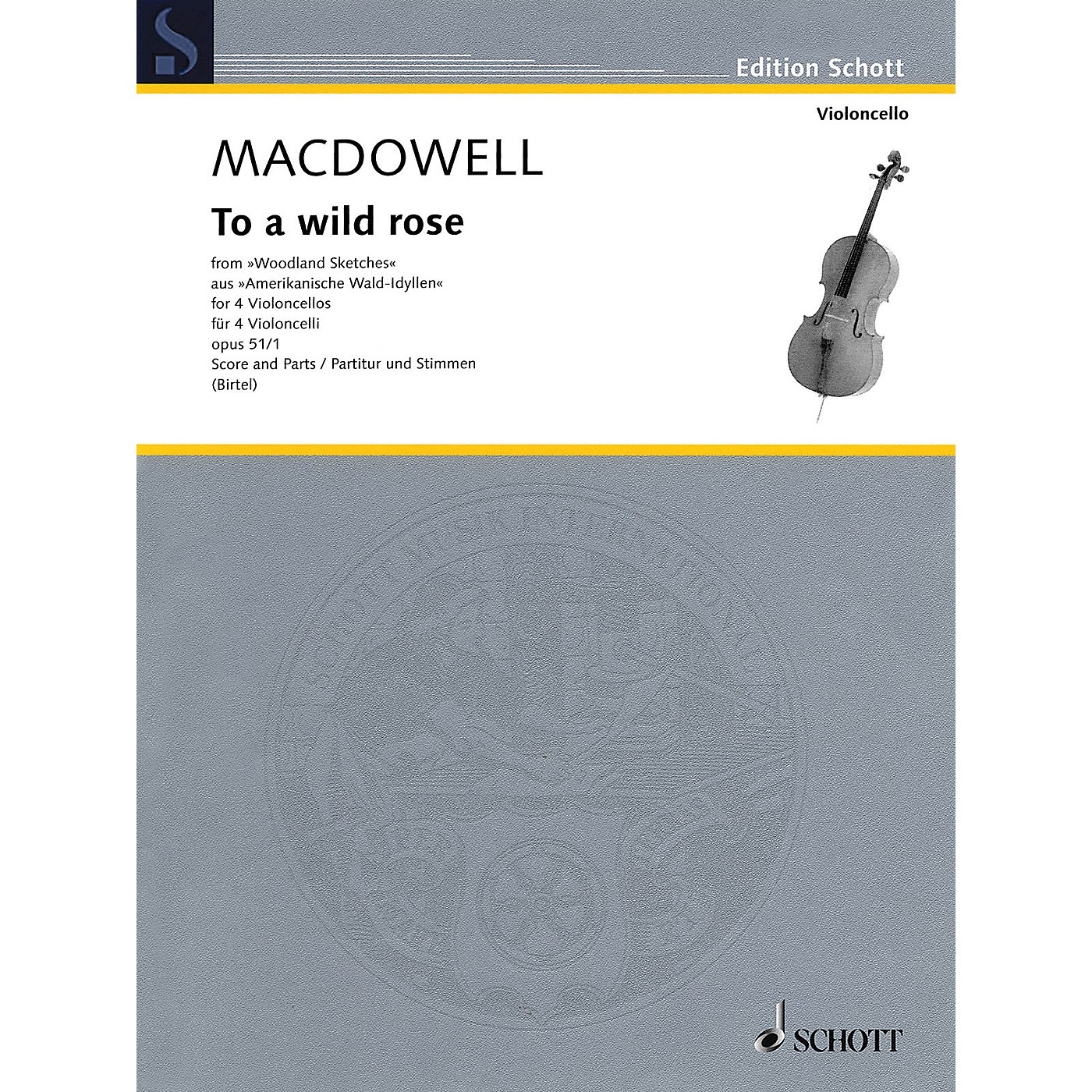 Schott To a Wild Rose Schott Series Softcover Composed by Edward MacDowell thumbnail