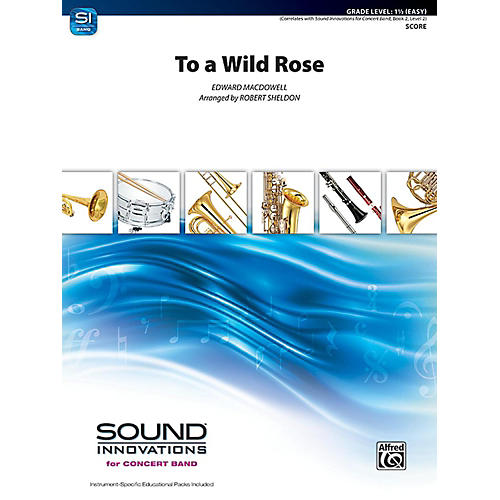 Alfred To a Wild Rose from Woodland Sketches Op. 51 Concert Band Grade 1.5 Set thumbnail