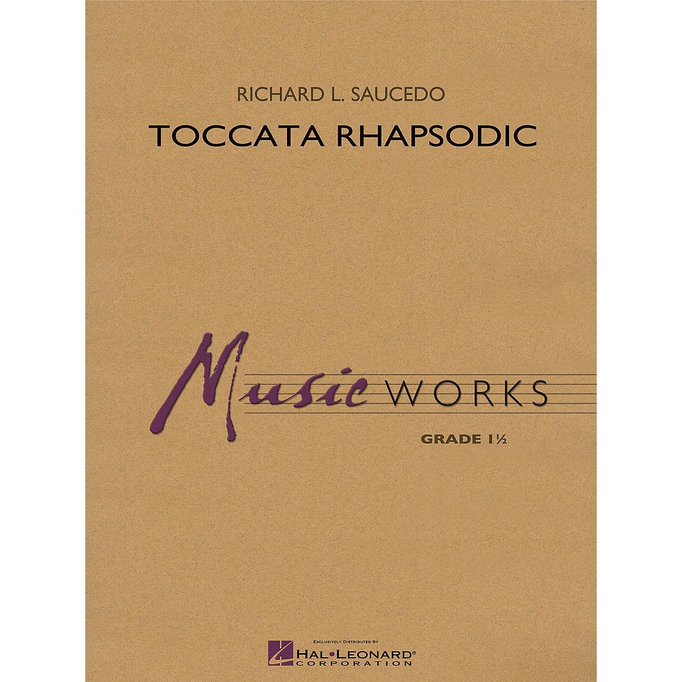 Hal Leonard Toccata Rhapsodic Concert Band Level 1.5 Composed by Richard L. Saucedo thumbnail