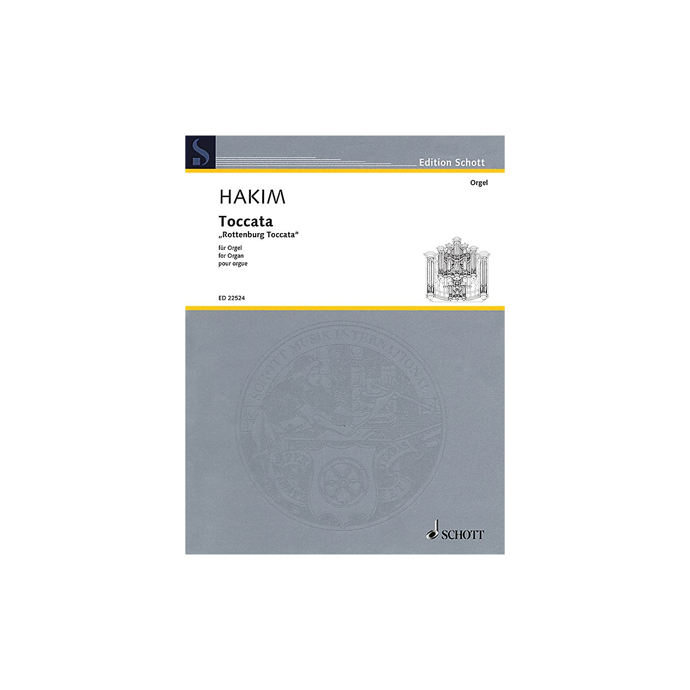 Schott Toccata (Rottenburg Toccata for Organ) Organ Large Works Series Softcover thumbnail