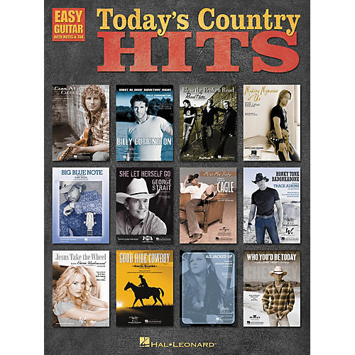 Hal Leonard Today's Country Hits Easy Guitar Tab Songbook thumbnail