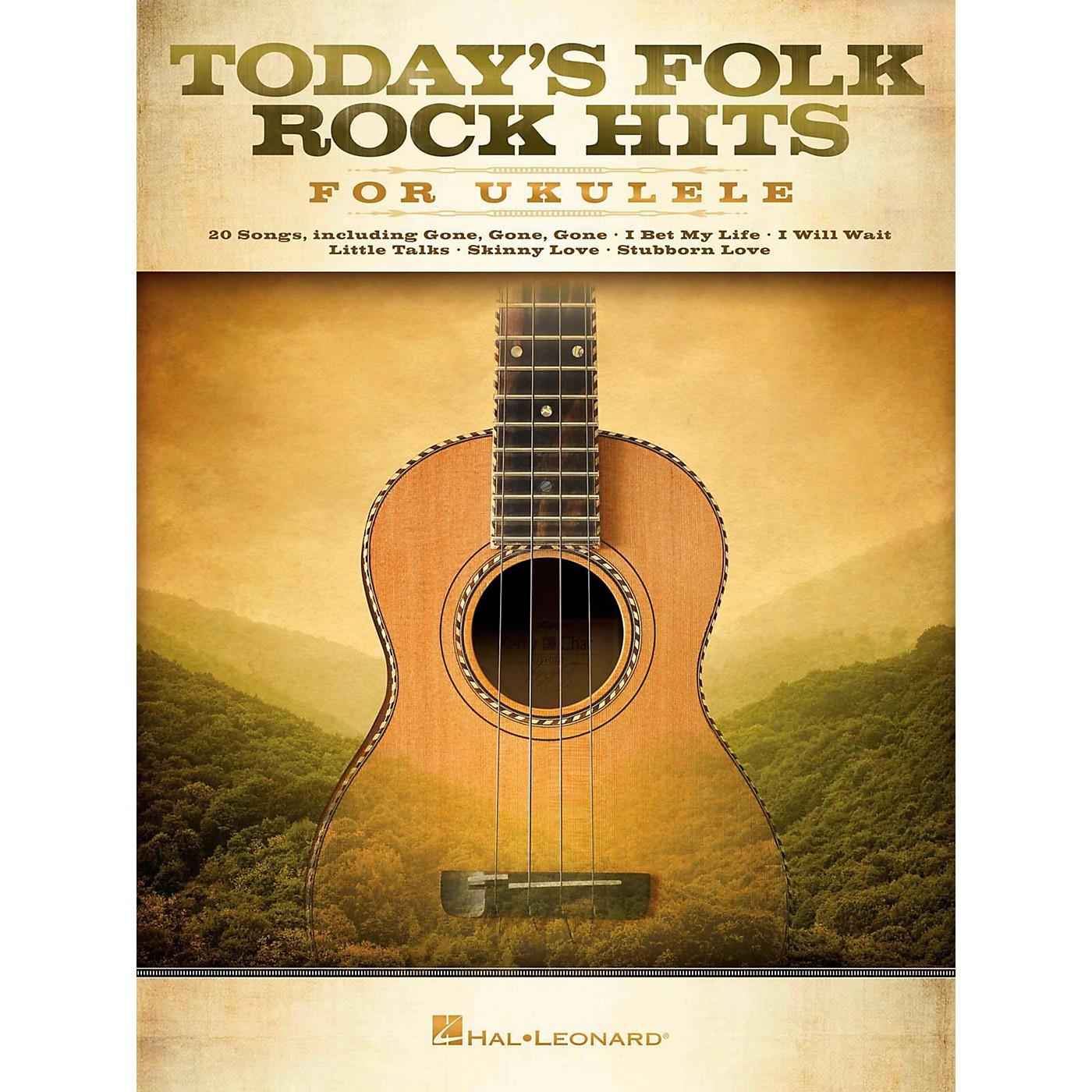 Hal Leonard Today's Folk Rock Hits For Ukulele thumbnail