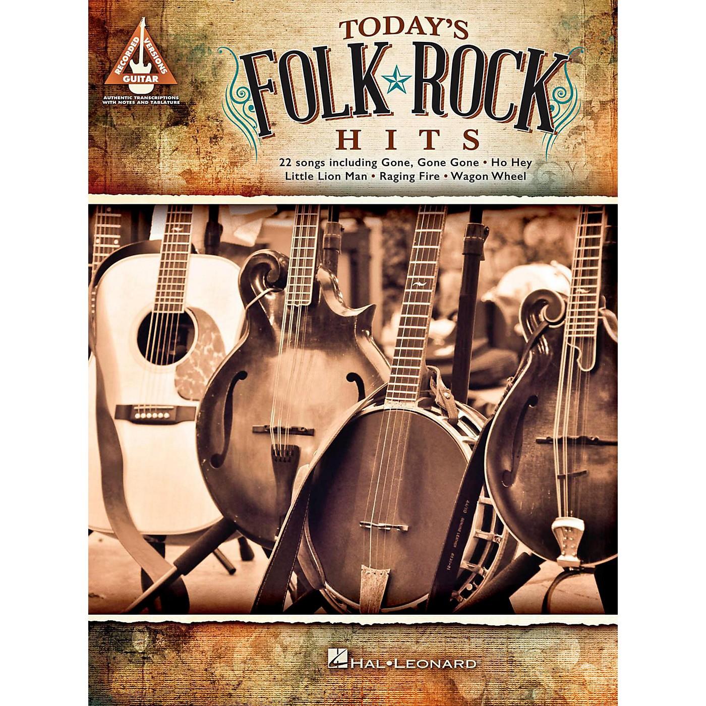 Hal Leonard Today's Folk Rock Hits Guitar Tab Songbook thumbnail