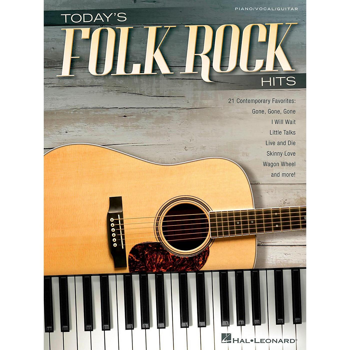 Hal Leonard Today's Folk Rock Hits Piano/Vocal/Guitar Songbook thumbnail