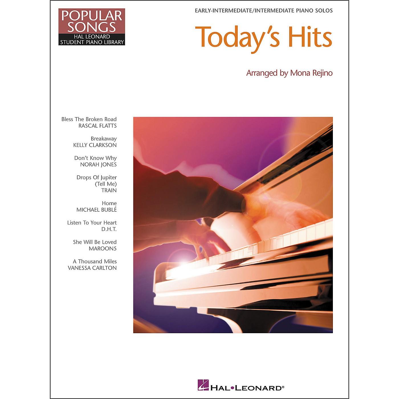 Hal Leonard Today's Hits Early Elementary intermediate Piano Solos Popular Songs Hal Leonard Student Piano Library by Mona Rejino thumbnail