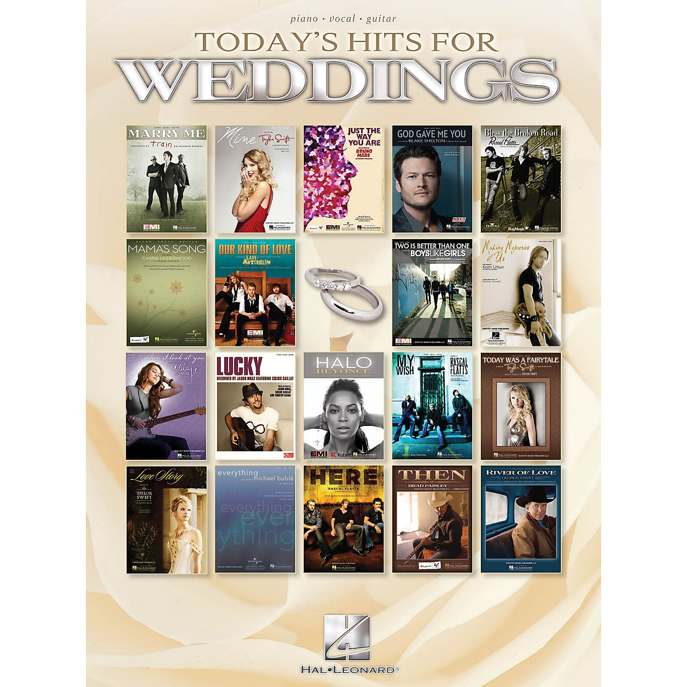 Hal Leonard Today's Hits For Weddings P/V/G Songbook thumbnail