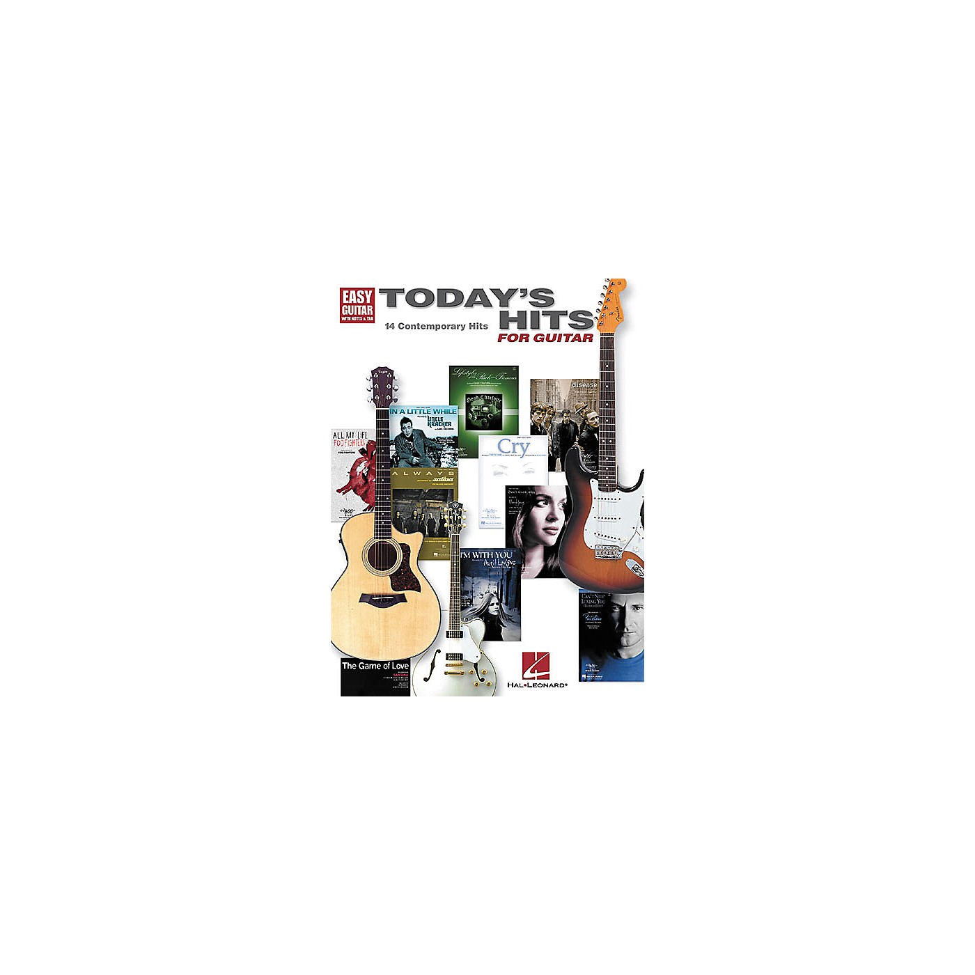Hal Leonard Today's Hits for Easy Guitar Tab Songbook thumbnail