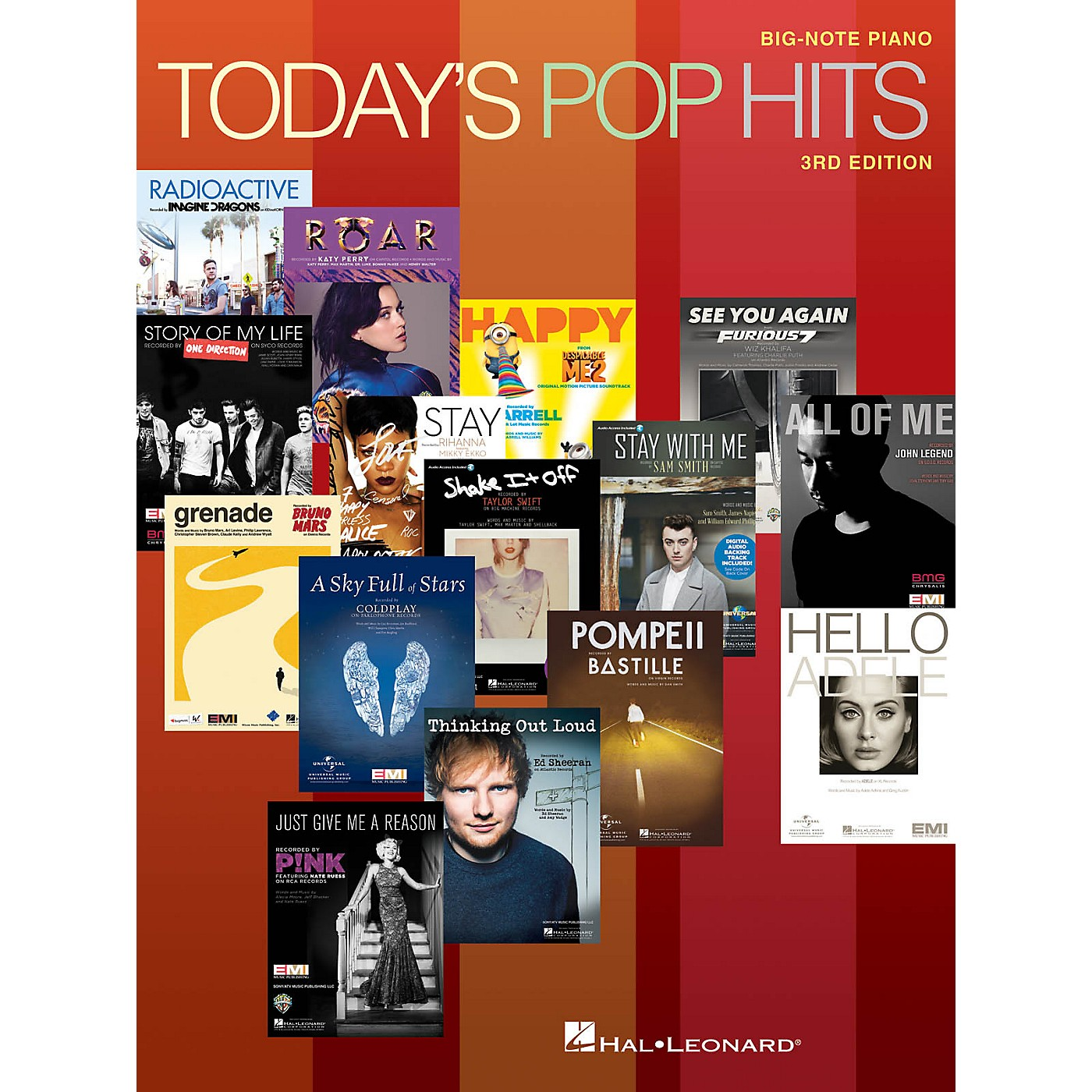 Hal Leonard Today's Pop Hits - 3rd Edition Big-Note Piano Songbook thumbnail