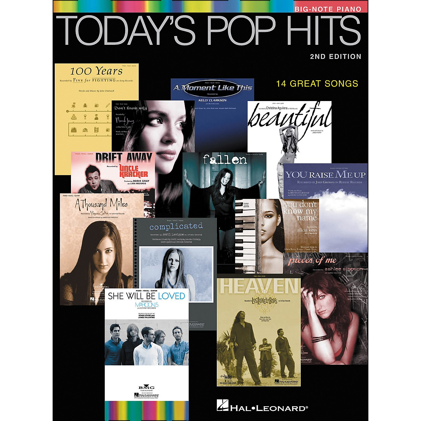 Hal Leonard Today's Pop Hits Second Edition for Big Note Piano thumbnail