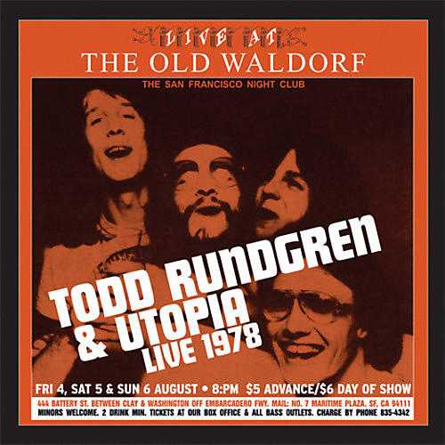 Alliance Todd Rundgren & Utopia - Live At The Old Waldorf thumbnail