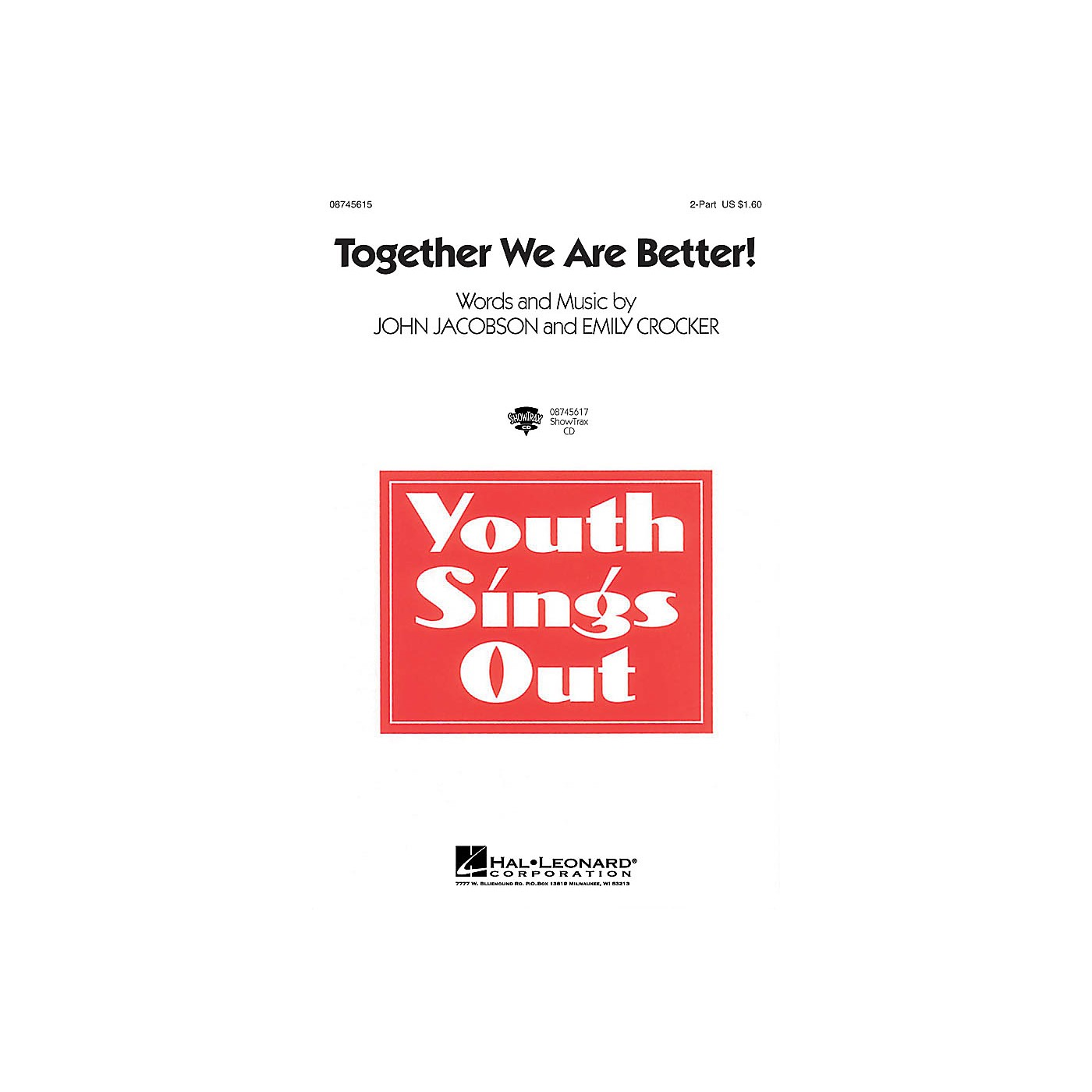 Hal Leonard Together We Are Better! 2-Part composed by John Jacobson, Emily Crocker thumbnail