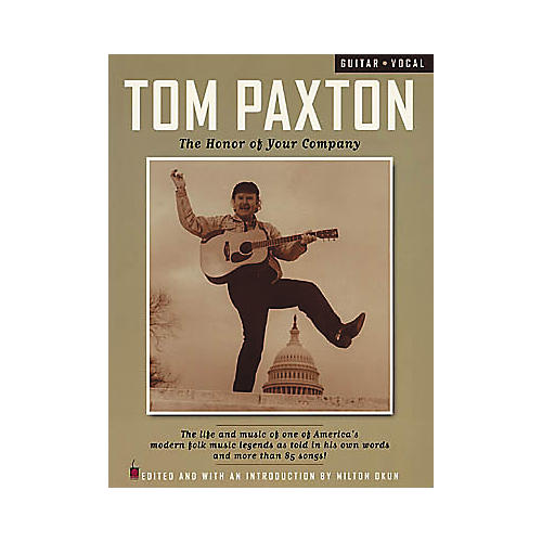 Cherry Lane Tom Paxton - The Honor of Your Company Guitar Tab Book thumbnail