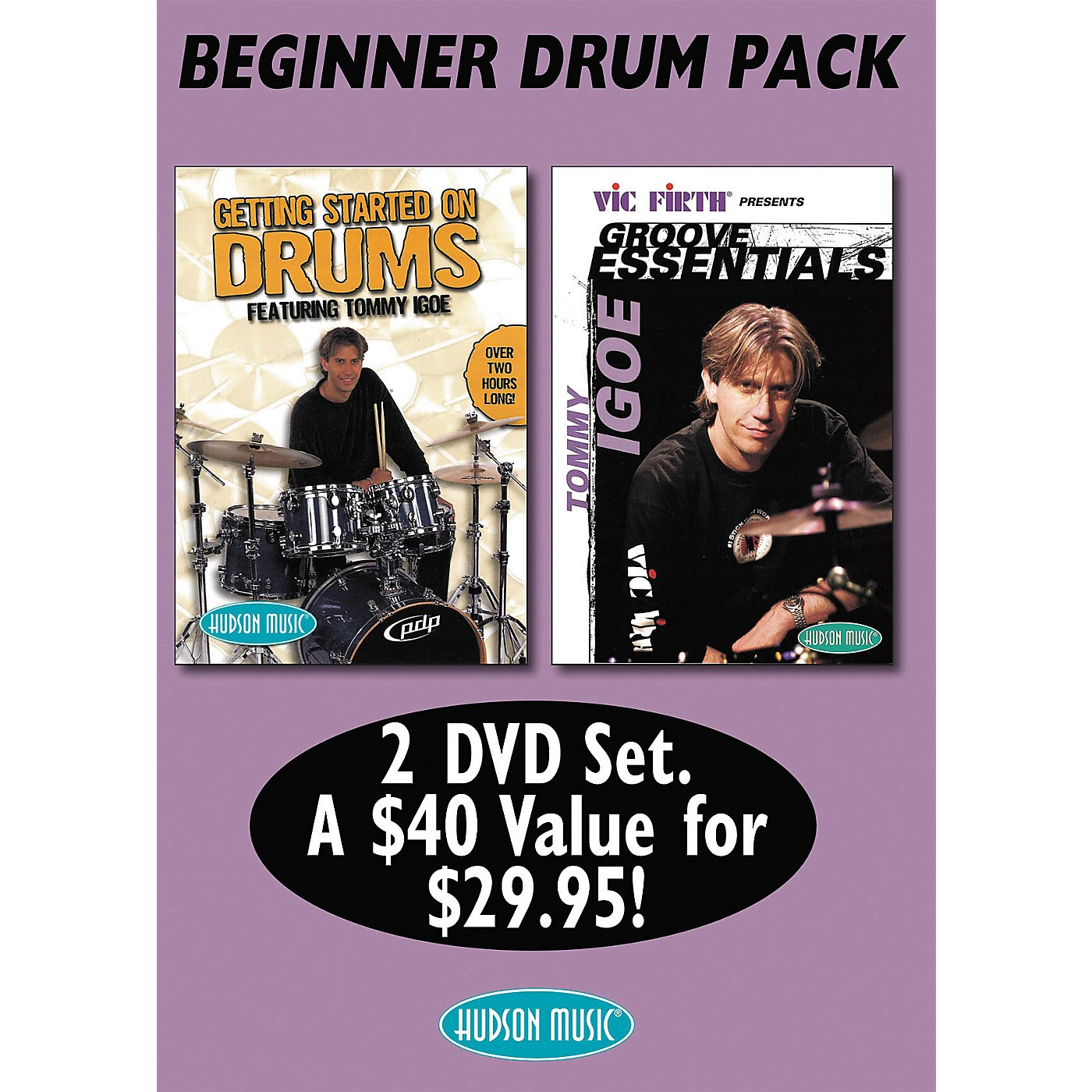 Hudson Music Tommy Igoe: Getting Started - Groove Essentials (DVD 2-Pack) thumbnail