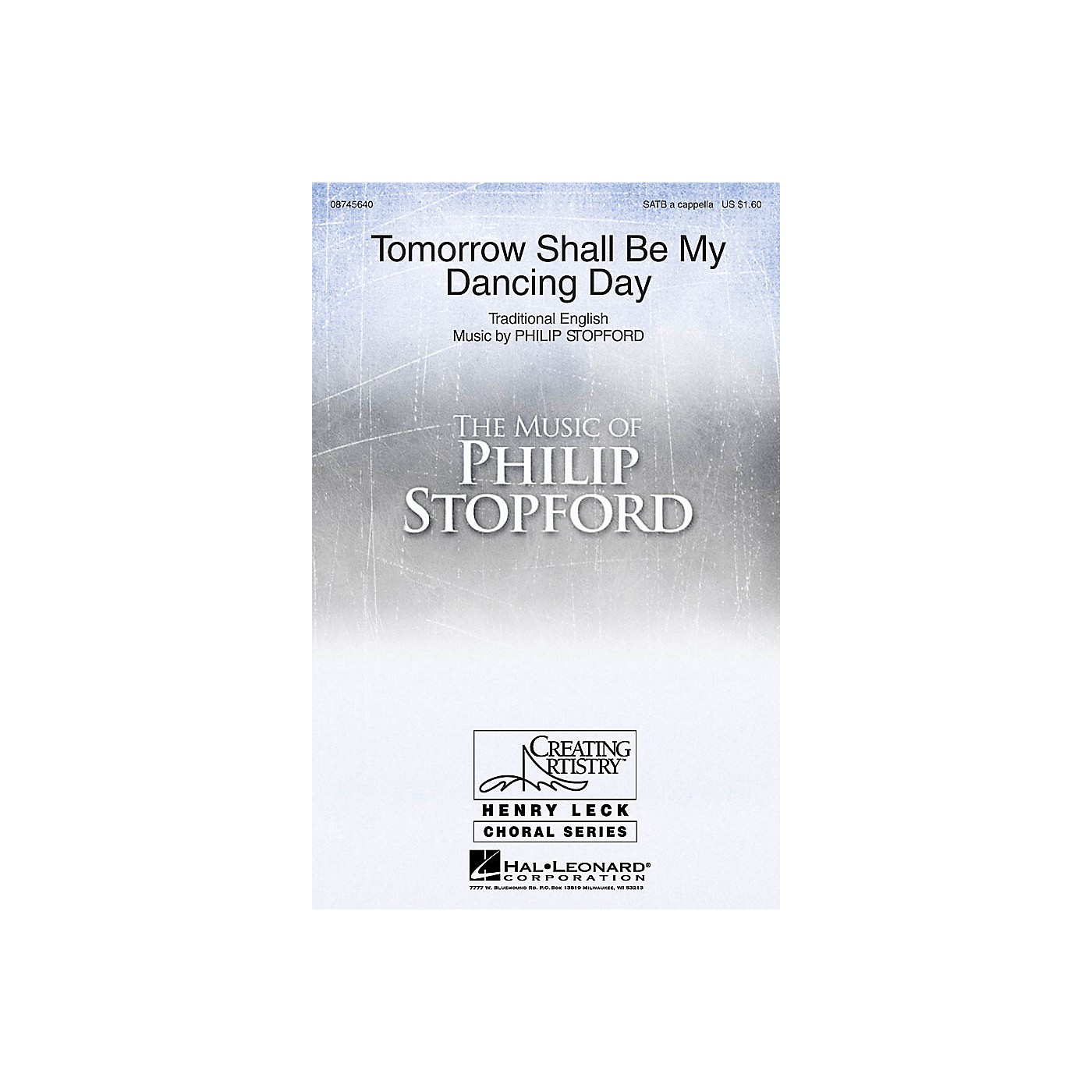 Hal Leonard Tomorrow Shall Be My Dancing Day SATB a cappella composed by Philip Stopford thumbnail