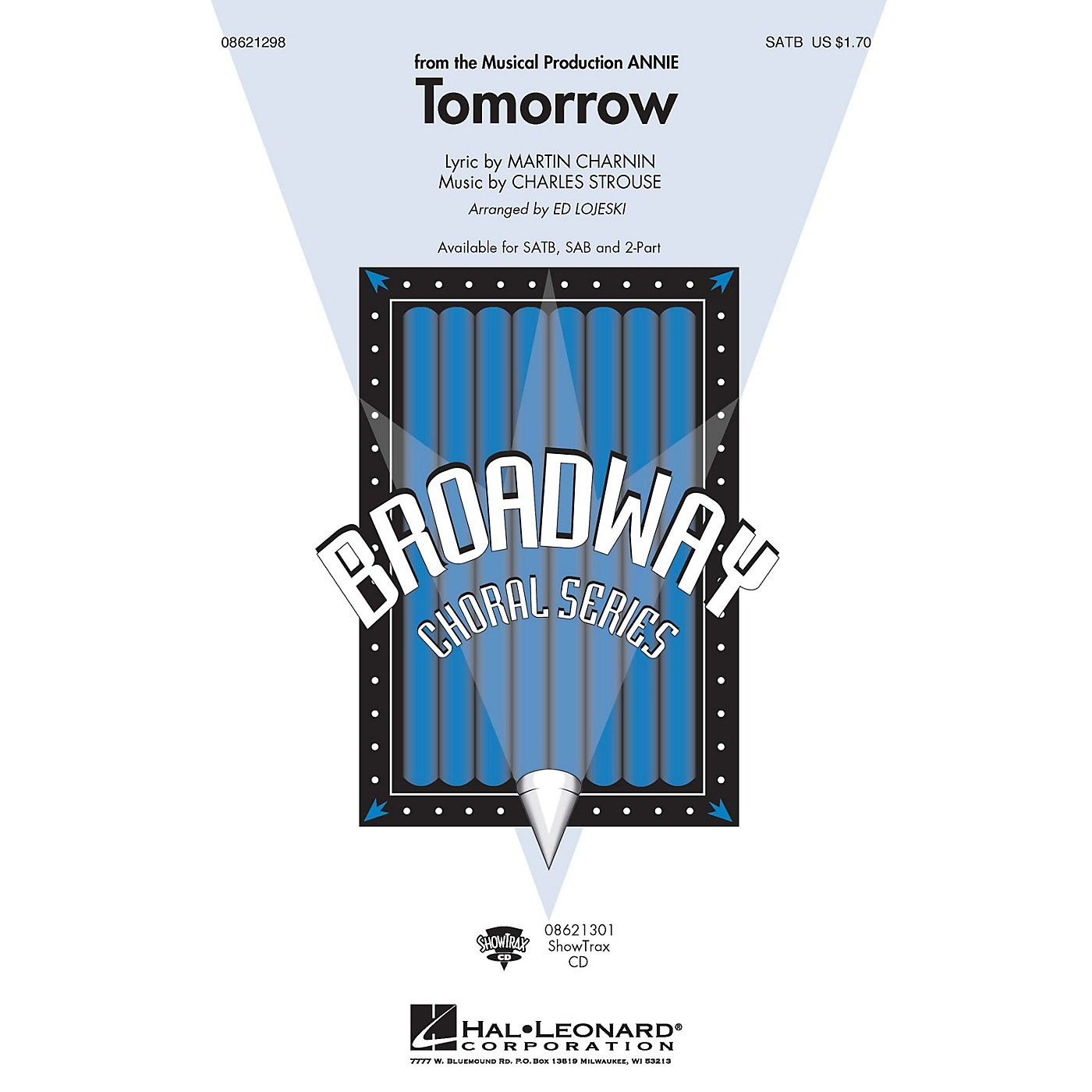 Hal Leonard Tomorrow (from Annie) SAB Composed by Charles Strouse thumbnail
