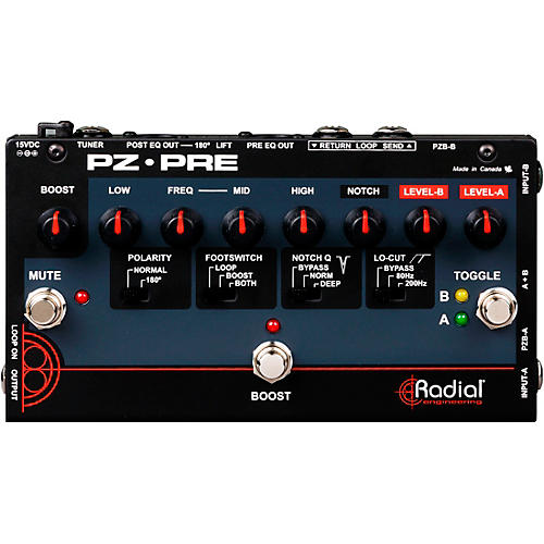 Radial Engineering Tonebone PZ-Pre Acoustic Direct Box Preamp thumbnail
