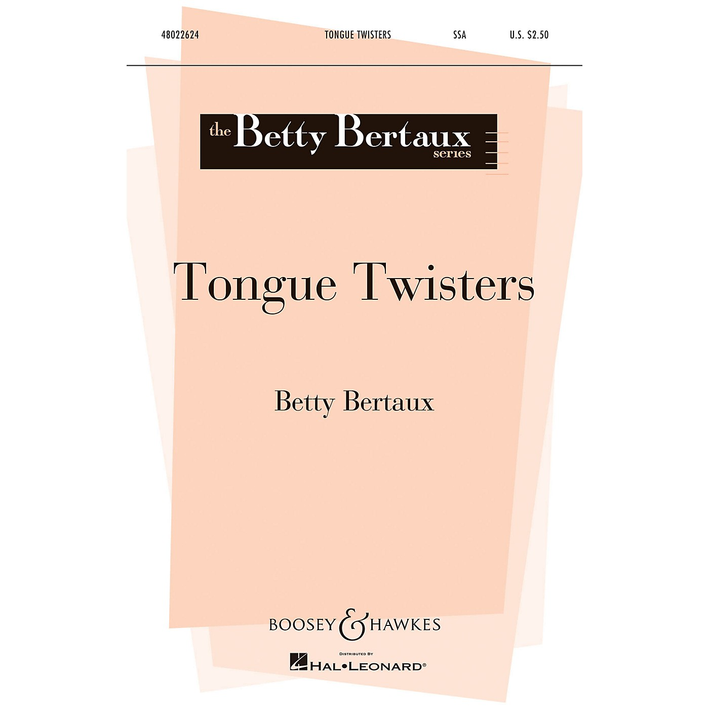 Boosey and Hawkes Tongue Twisters (Betty Bertaux Series) SSA composed by Betty Bertaux thumbnail