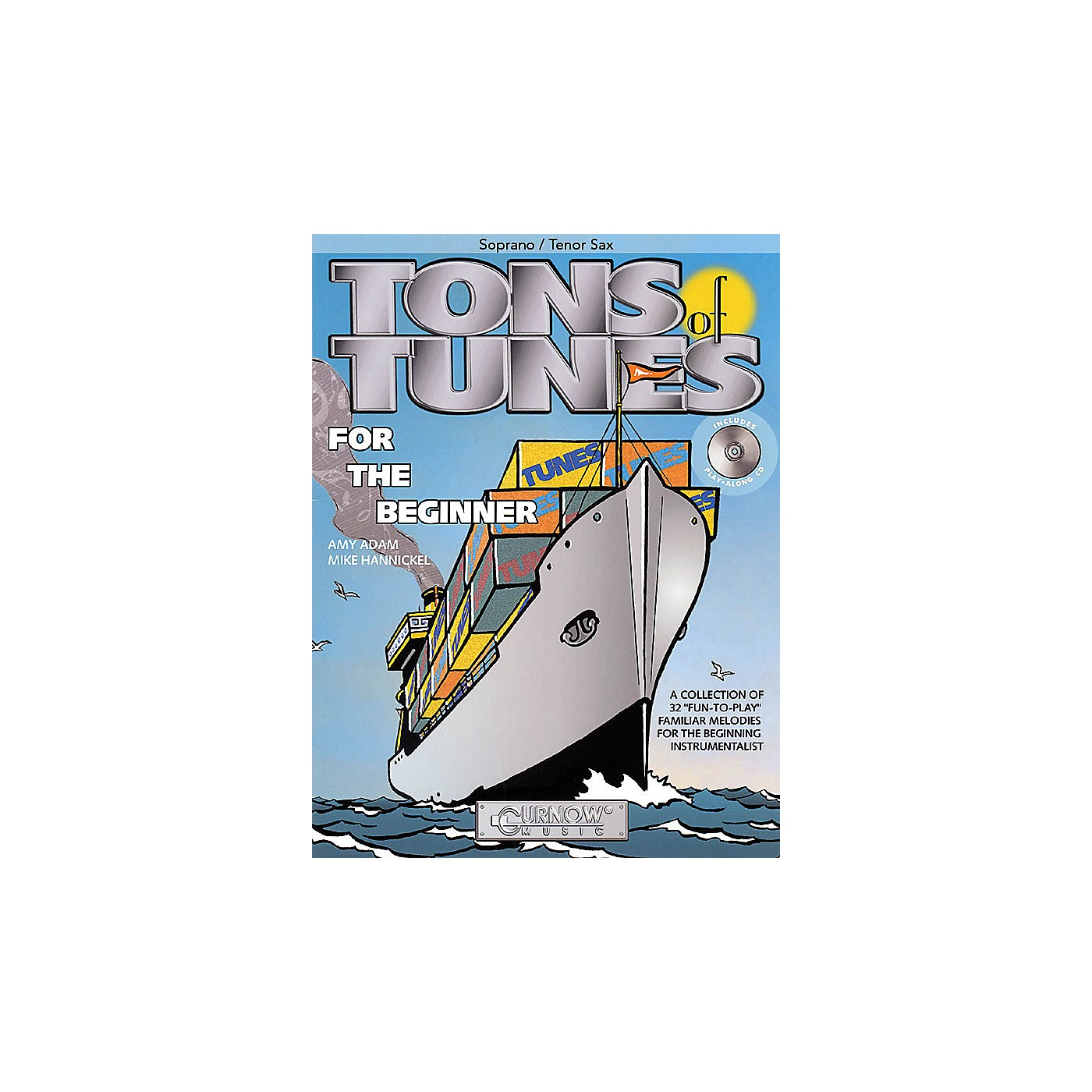 Curnow Music Tons of Tunes for the Beginner (Soprano/Tenor Saxophone - Grade 0.5 to 1) Concert Band Level .5 to 1 thumbnail