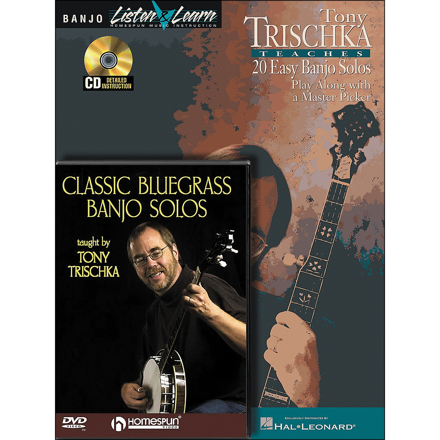 Hal Leonard Tony Trischka Banjo Bundle Pack (Book/CD/DVD) thumbnail