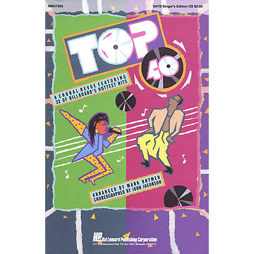 Hal Leonard Top 40 (Feature Medley) 2 Part Singer Arranged by Mark Brymer thumbnail