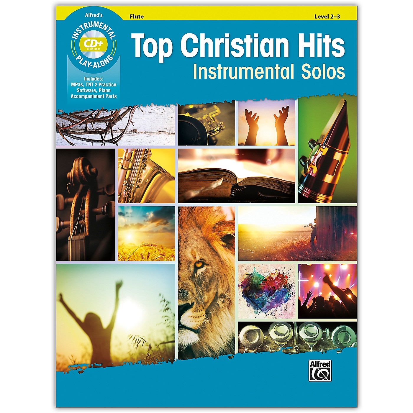 Alfred Top Christian Hits Instrumental Solos Flute Book & CD Level 2--3 thumbnail