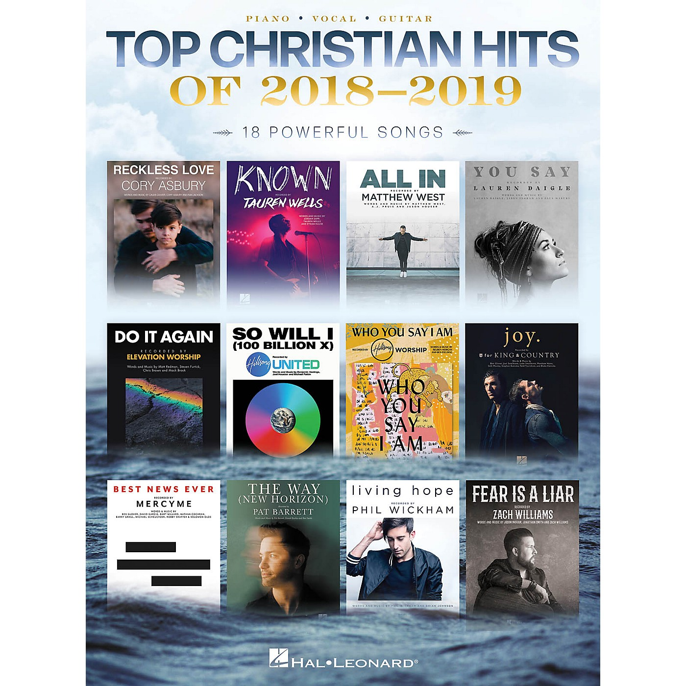 Hal Leonard Top Christian Hits of 2018-2019 Piano/Vocal/Guitar Songbook thumbnail