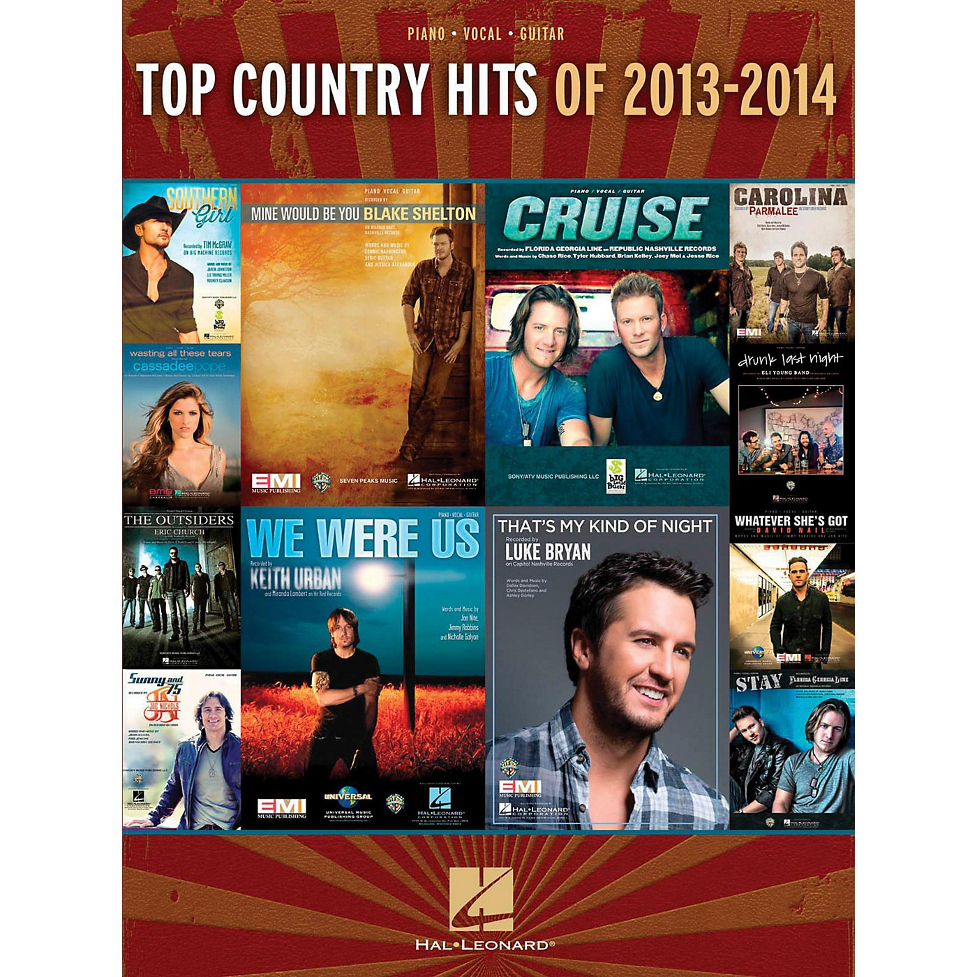 Hal Leonard Top Country Hits Of 2013-2014 for Piano/Vocal/Guitar thumbnail