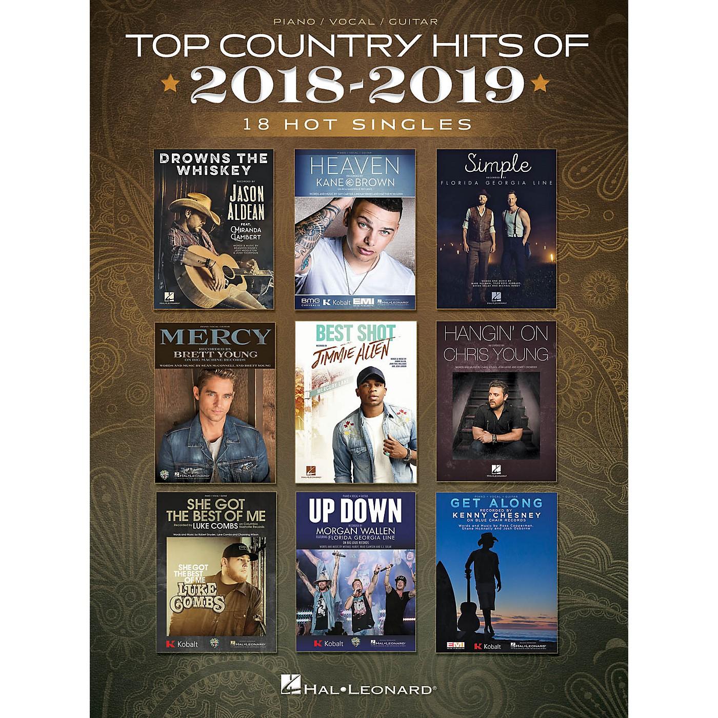 Hal Leonard Top Country Hits of 2018-2019 (18 Hot Singles) Piano/Vocal/Guitar Songbook thumbnail