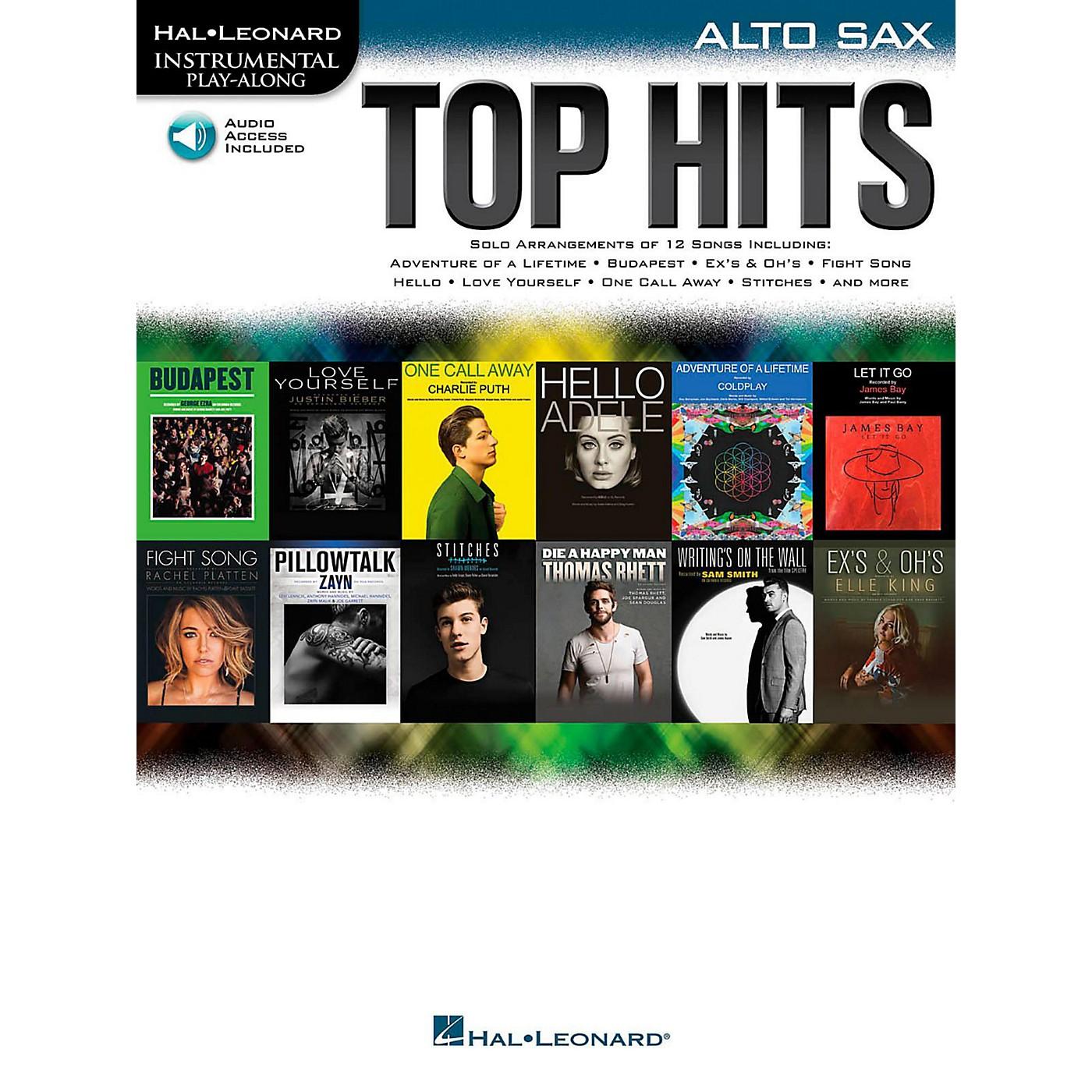 Hal Leonard Top Hits For Alto Sax - Instrumental Play-Along Book/Online Audio thumbnail