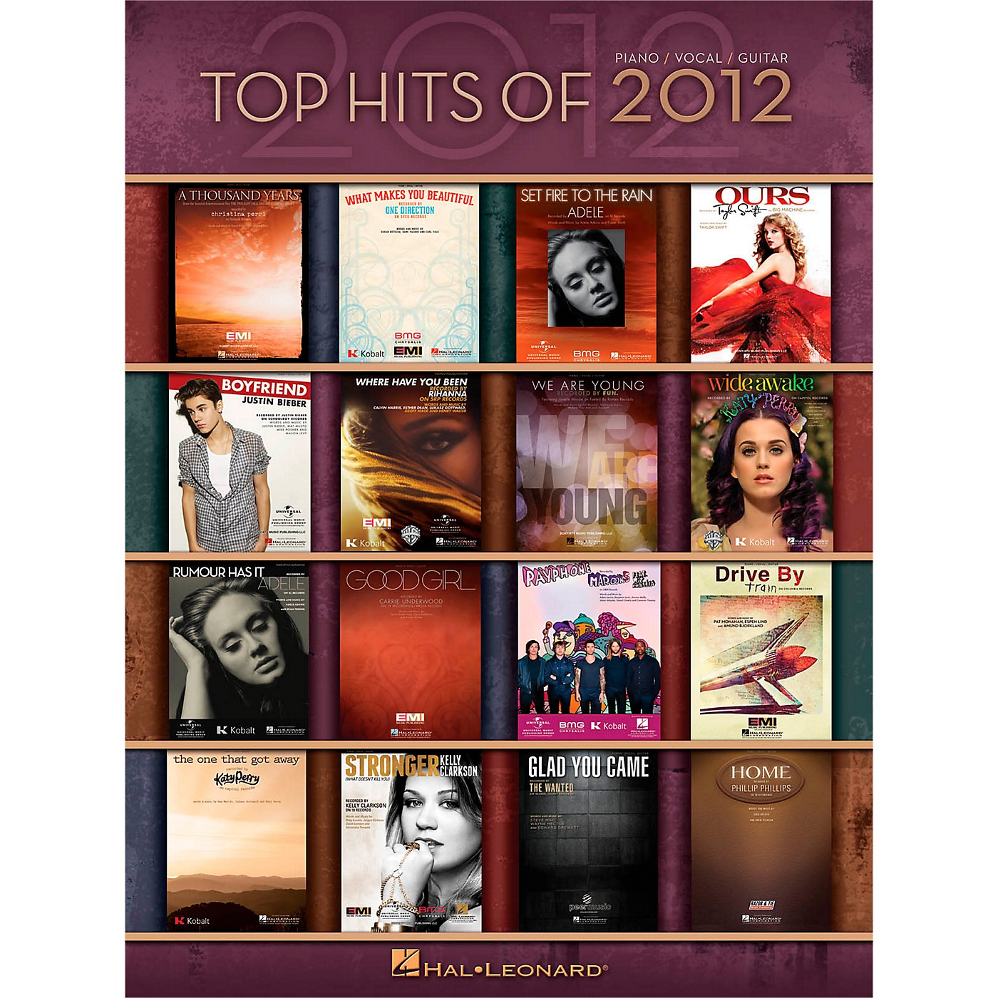 Hal Leonard Top Hits Of 2012 Piano/Vocal/Guitar Songbook thumbnail