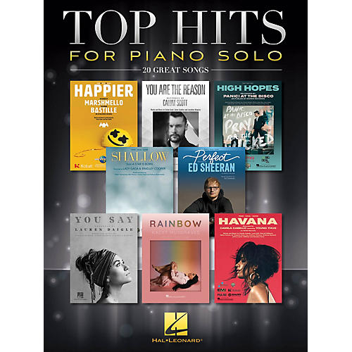 Hal Leonard Top Hits for Piano Solo (20 Great Songs) Piano Solo Songbook thumbnail