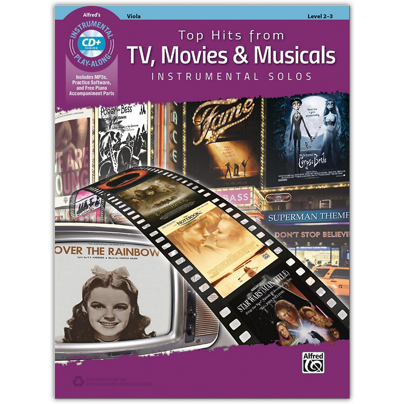 Alfred Top Hits from TV, Movies & Musicals Instrumental Solos for Strings Viola Book & CD, Level 2-3 thumbnail