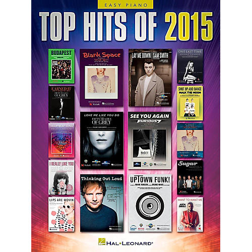 Hal Leonard Top Hits of 2015 Easy Piano Songbook thumbnail