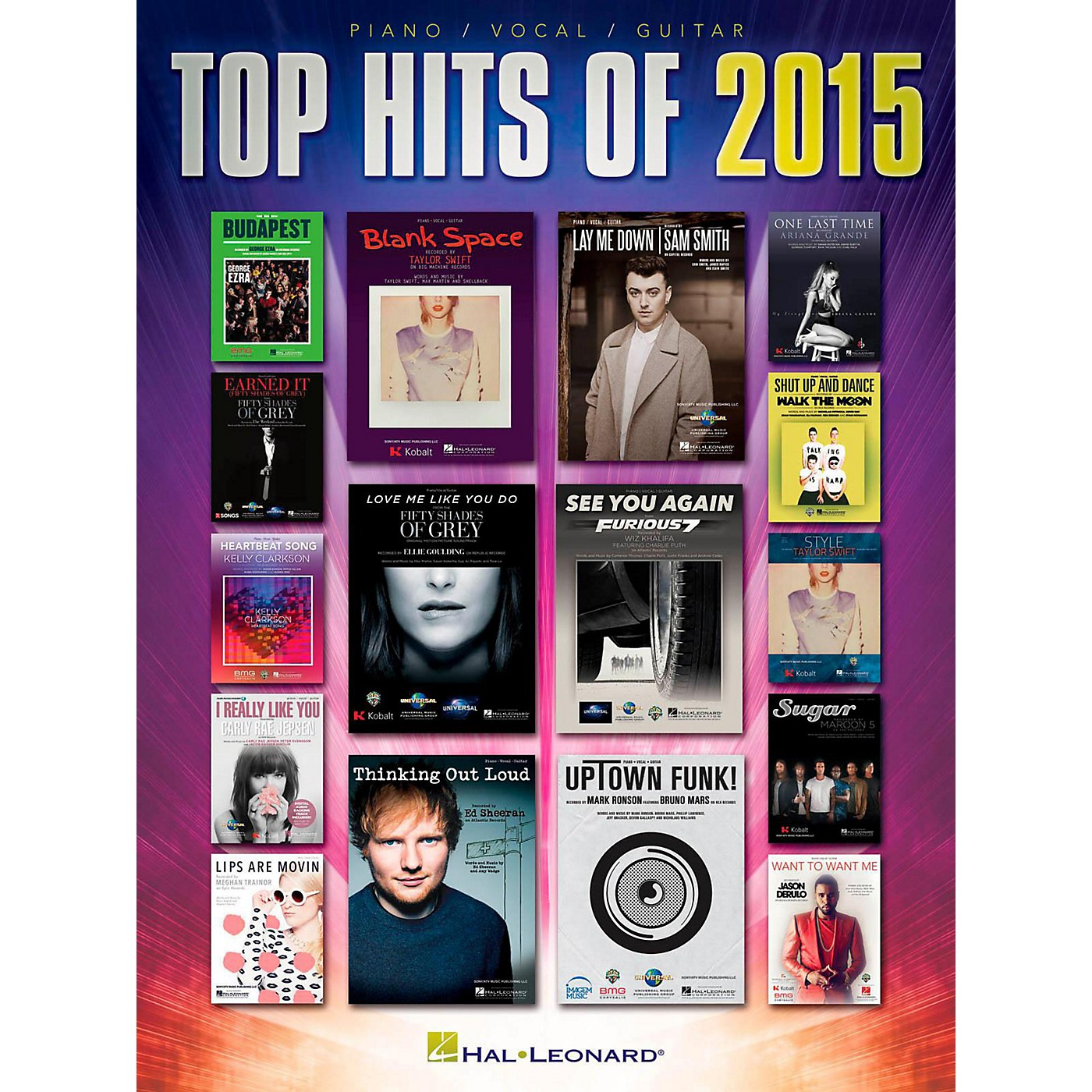 Hal Leonard Top Hits of 2015 for Piano/Vocal/Guitar thumbnail
