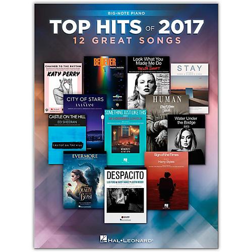 Hal Leonard Top Hits of 2017 for Big Note Piano thumbnail