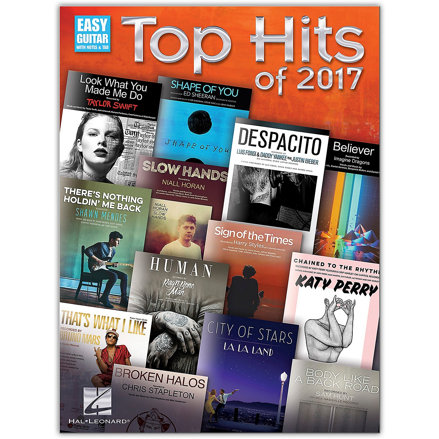 Hal Leonard Top Hits of 2017 for Easy Guitar with Tab thumbnail