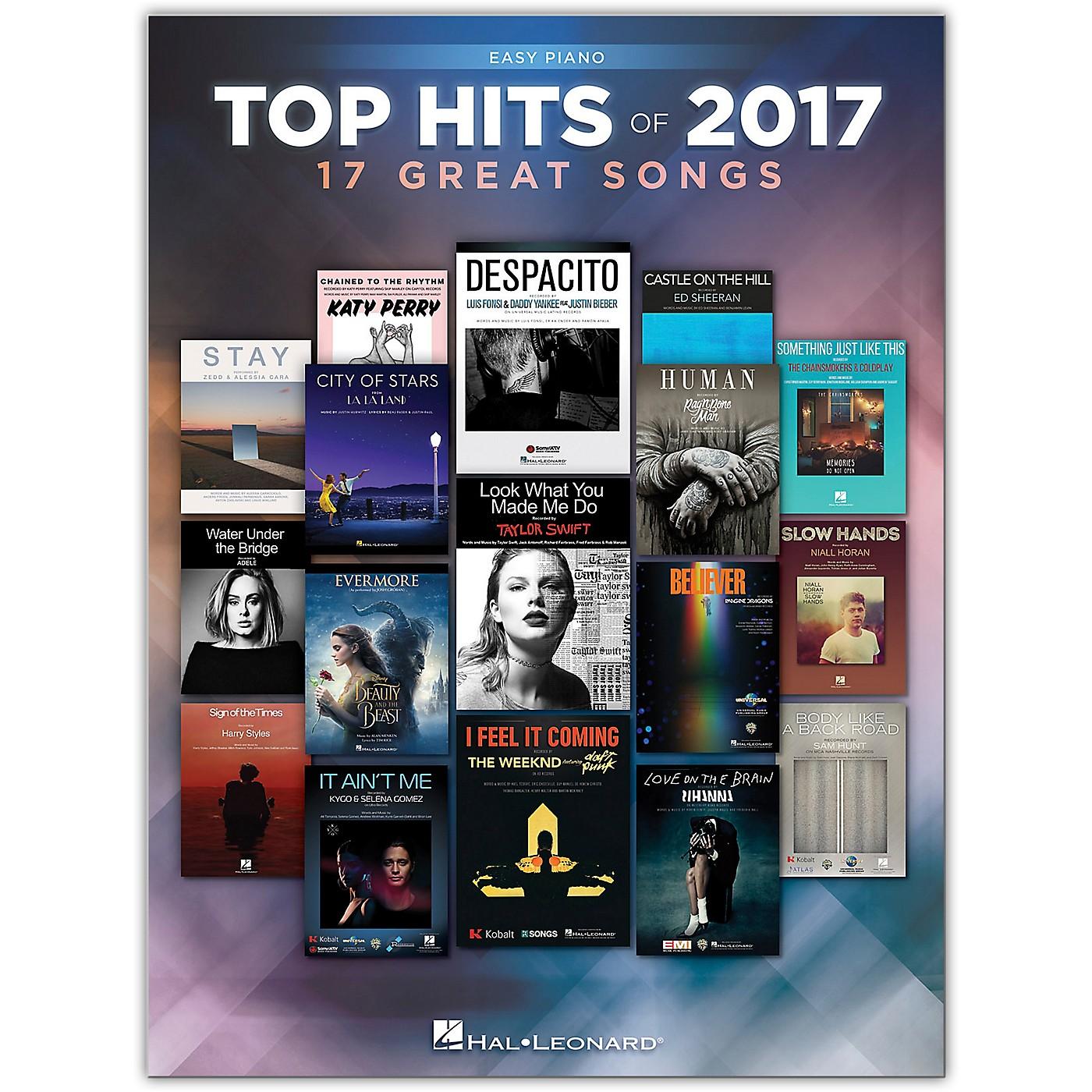 Hal Leonard Top Hits of 2017 for Easy Piano thumbnail