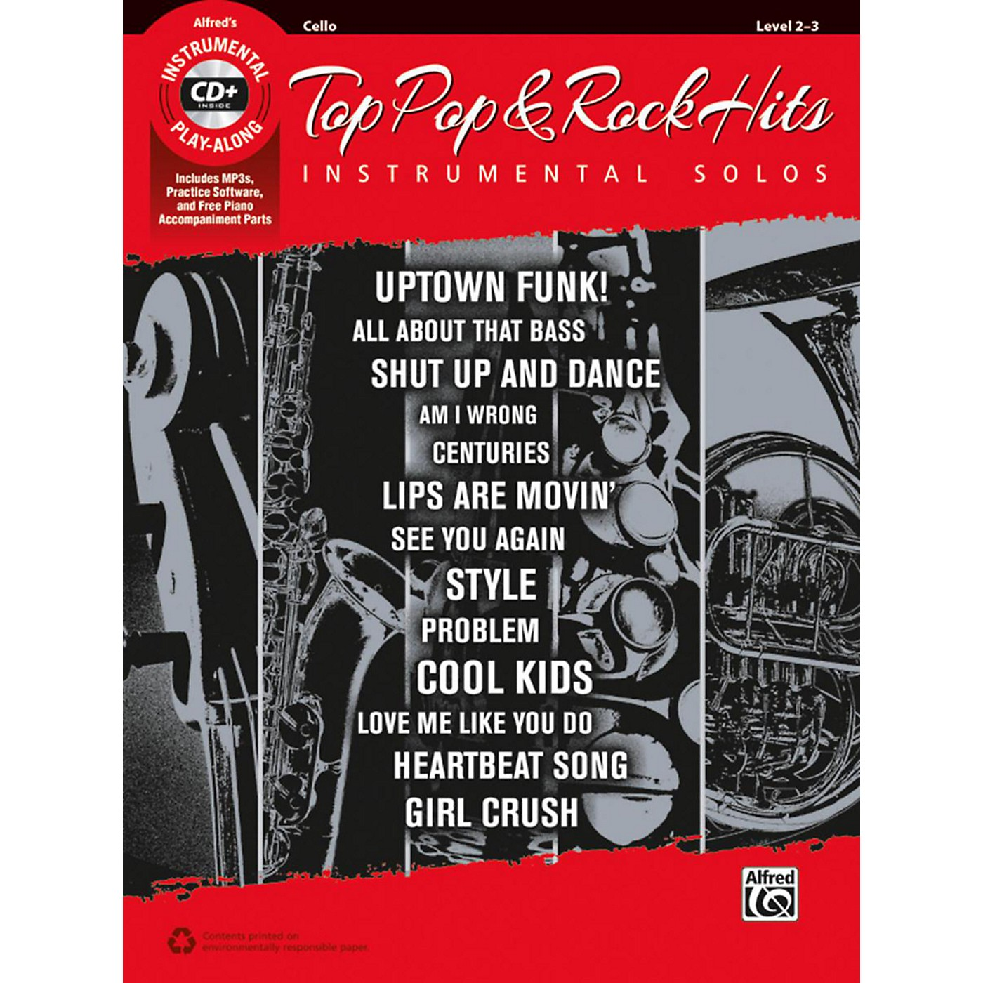 Alfred Top Pop & Rock Hits Instrumental Solos for Strings Cello Book & CD thumbnail