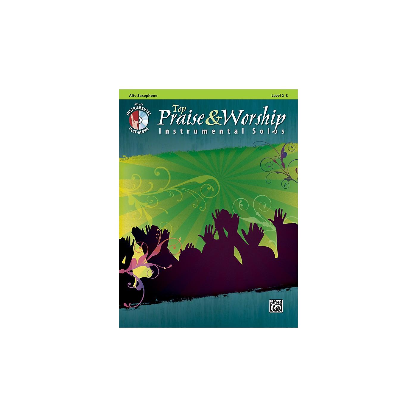 Alfred Top Praise & Worship Instrumental Solos - Alto Sax, Level 2-3 (Book/CD) thumbnail