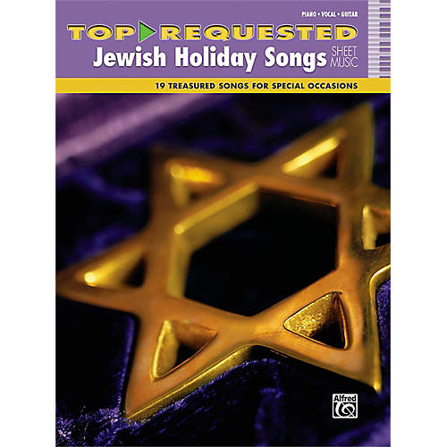 Alfred Top-Requested Jewish Holiday Songs Sheet Music Piano/Vocal/Guitar Book thumbnail