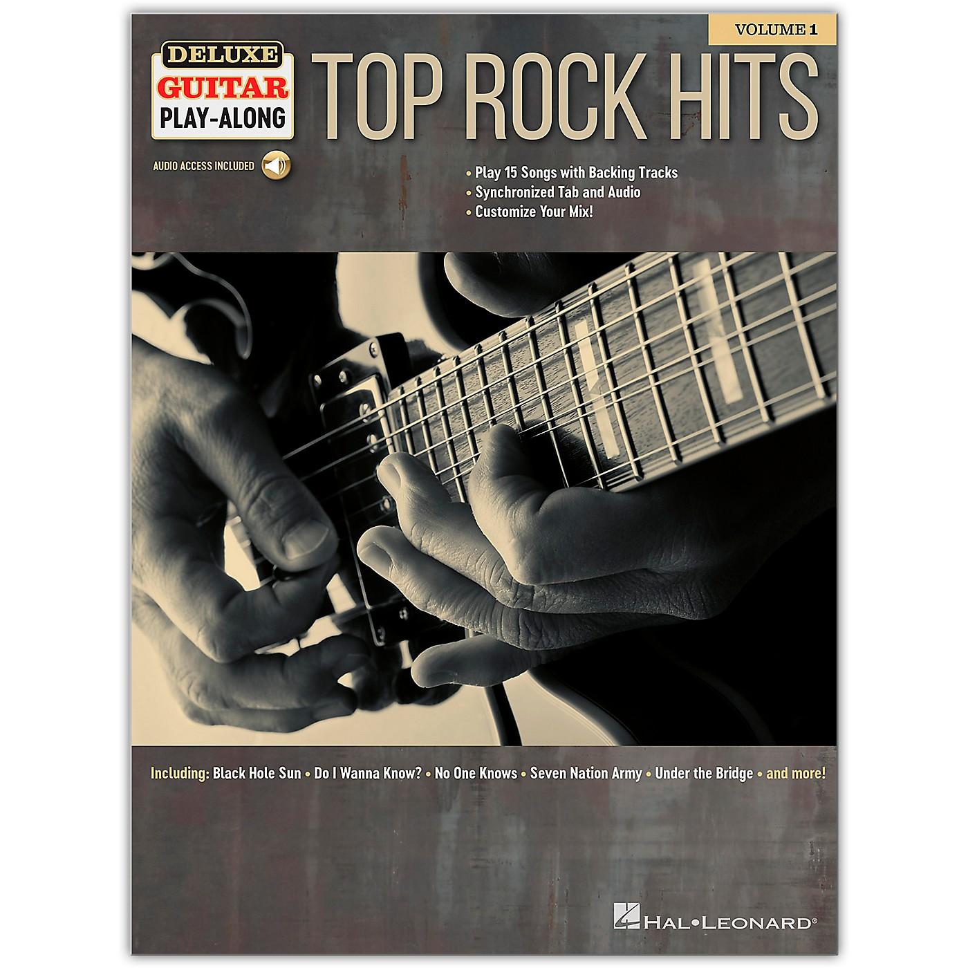 Hal Leonard Top Rock Hits Deluxe Guitar Play-Along Volume 1 Book/Audio Online thumbnail
