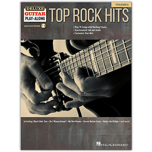 Hal Leonard Top Rock Hits Deluxe Guitar Play-Along Volume 1 Book/Audio Online thumbnail
