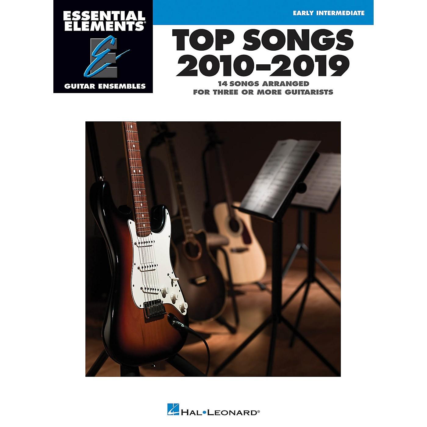 Hal Leonard Top Songs 2010-2019 Essential Elements Guitar Ensembles Early Intermediate Level thumbnail
