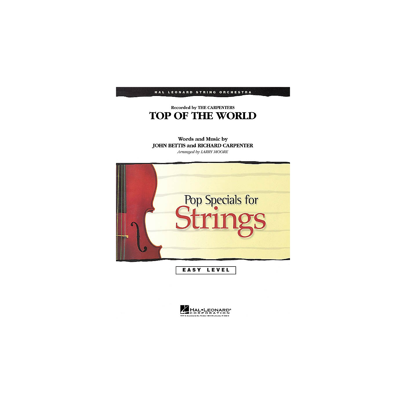 Hal Leonard Top of the World Easy Pop Specials For Strings Series Softcover Arranged by Larry Moore thumbnail